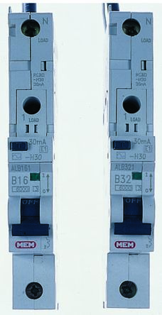 Eaton MEM 1 Pole Type B Residual Current Circuit Breaker with Overload Protection, 32A, 6 kA