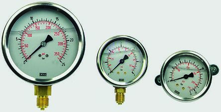 analog manometer. wika 7656098 analogue positive pressure gauge back entry analog manometer