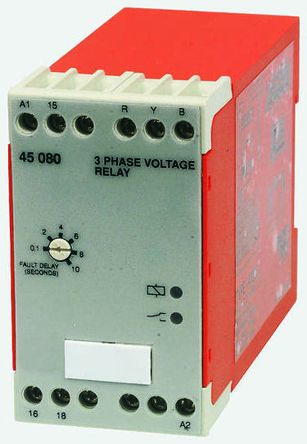 Broyce Control Phase, Voltage Monitoring Relay with SPDT Contacts, 3 Phase, 230 V ac, 400 V ac