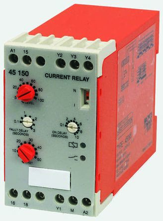 Broyce Control Current Monitoring Relay with SPDT Contacts, 1 Phase, 24 V ac