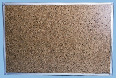 Planorga Brown Cork Notice Board, 1200 x 900mm