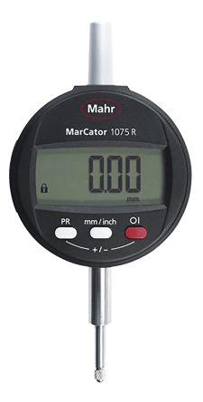 Mahr 4336010 Plunger Dial Indicator, Range Maximum of 12.5 mm