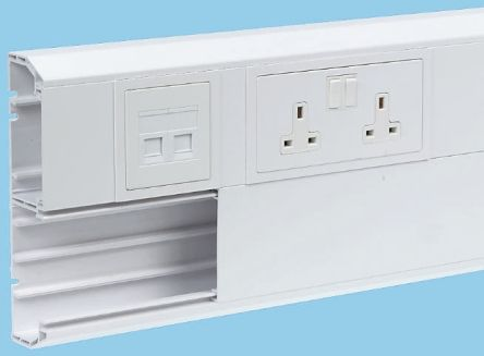 Ep2w Schneider Electric White Upvc Cable Trunking Dado