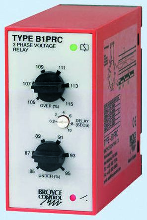 Broyce Control Phase, Voltage Monitoring Relay with SPDT Contacts, 3 Phase, 400 V ac