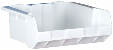 rs pro natural plastic stackable storage bin 180mm x 470mm x 3855mm