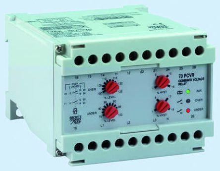 Broyce Control Phase, Voltage Monitoring Relay with 4NO/4NC Contacts, 3 Phase, 400 V ac