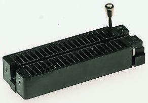 Aries Electronics 2.54mm Pitch 48 Way Through Hole Universal ZIF Test Socket