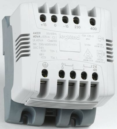 R535771 01 0 442 32 legrand 63va din rail transformer, 230v ac, 400v ac 400v to 230v transformer wiring diagram at mifinder.co