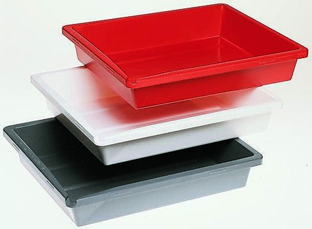 Polystyrene Etching Tray in Grey, Red, White, 10in length by 8in Width