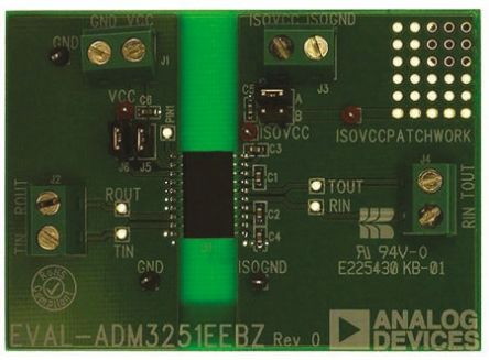 analog devices rs232 transceiver evaluation board for adm3251e