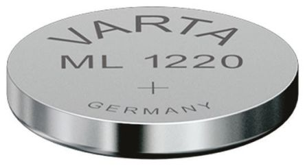 Varta ML 1220 3V Lithium Manganese Dioxide Rechargeable Coin Cell Battery, 17mAh