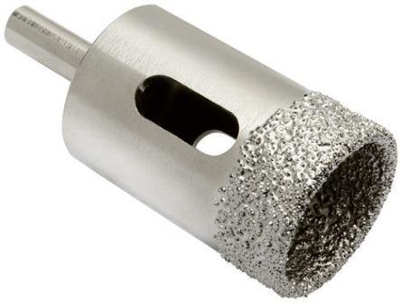diamond tip drill bit. rotozip 25mm diamond tipped holesaw core drill bit, 30mm cut depth tip bit s