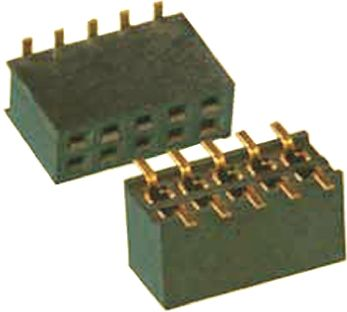 Amphenol FCI 20021321 Series 1.27mm Pitch 16 Way 2 Row Straight PCB Socket, Surface Mount, Solder Termination