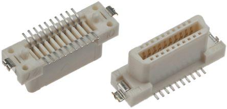 27mm节距 表面贴装 印刷电路板插座 fx2-52s-1.27svl(71), 焊接端接