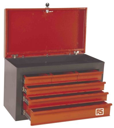 RS Pro 6 drawer Steel Tool Chest , 350mm x 530mm x 340mm  