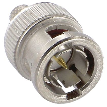 TE Connectivity Straight 75Ω Cable Mount BNC Connector Plug, Crimp Termination RG59 Nickel
