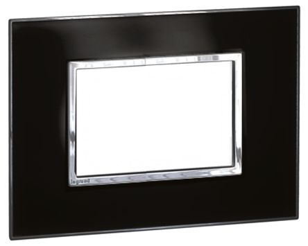 575273 plaque de fermeture legrand noir 1 emplacement montage encastr en pmma polycarbonate. Black Bedroom Furniture Sets. Home Design Ideas
