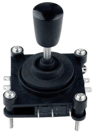 IP65 Joystick Switch, 2 axes, 5 A@ 250 V ac Quick Connect 250V ac, -20 → +65°C