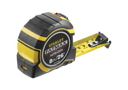stanley fatmax series 8m tape measure metric u0026 imperial