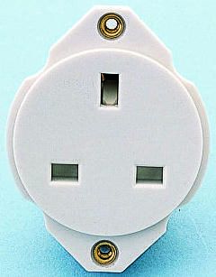 rs crabtree gang plastic power socket bs a crabtree 1 gang plastic power socket bs 1363 13a panel mount