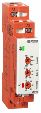 Broyce Control Phase, Voltage Monitoring Relay with SPDT Contacts, 115 V ac