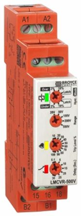Broyce Control Current Monitoring Relay with SPDT Contacts, 24 → 230 V ac/dc