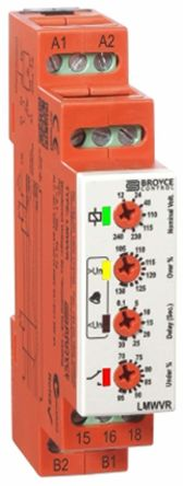 Broyce Control Voltage Monitoring Relay with SPDT Contacts, 24 → 230 V ac/dc