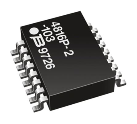 Bourns 4800P Series 2.2kΩ ±2% Isolated Resistor Network, 8 Resistors, 1.28W total DIP package Pin