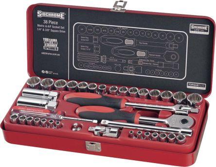 Scmt19105 Sidchrome Scmt19105 38 Pieces Socket Set 1 4