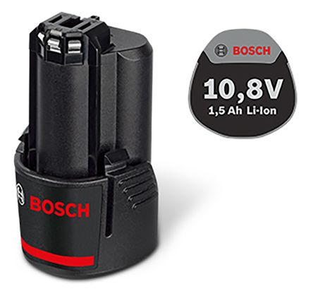 Bosch 1600A001BN 1.5Ah Li-ion 10.8V Power Tool Battery, For Use With 10.8 V Bosch Blue Li-Ion Tools and Chargers