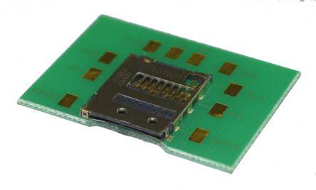 1mm节距 8针 直母 印刷电路板安装 microsd 存储卡连接器
