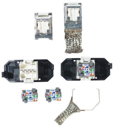 vol ock6 s8 connecteur rj45 8 voies 6 stp montage keystone genre femelle 3m. Black Bedroom Furniture Sets. Home Design Ideas