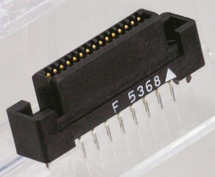 54mm节距 通孔 印刷电路板插座, 板对板