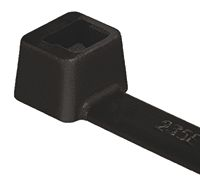 HellermannTyton Black Nylon Non-Releasable Cable Tie, 200mm x 4.6 mm, T50R
