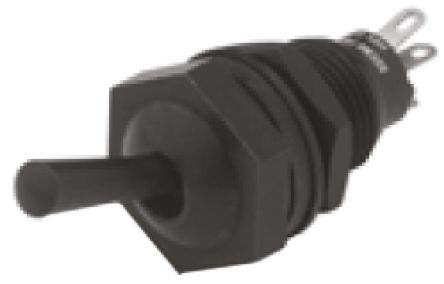 Toggle Switch IP67 NO/NC 2-way On-On, 4.5 A @ 12 V dc, Panel Mount