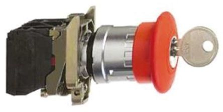 Xb4bs142 bouton d 39 arret d 39 urgence a cle 1n f schneider electric - Bouton arret d urgence ...