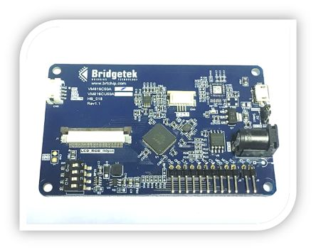 Bridgetek, USB ,帶 5.0 英寸液晶屏 處理器和微控制器開發套件 (MCU 內核)