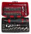 Facom RL.NANO1, 38 Pieces Socket & Bit Set 1/4 in Square Drive