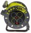 25m Extension Reel Type G - British,4 Socket ,Unwound Current Rating 13A,240 V,Yellow
