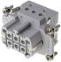 HE Series Connector Insert, Female, 6 Way, 16A, 400 V