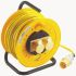 25m Extension Reel BS4343/EN60309 110V-16A,2 Socket ,Unwound Current Rating 16A,110 V IP44,Yellow