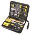 Stanley Tools 工具套装, 18件 电工工具套件, 内含 精密时钟螺丝刀;电线切割器;钳;可调扳手;电烙铁;胶带;羊角锤;钢锯;钳子;剪刀