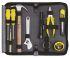 Stanley Tools 工具套装, 10件 汽车工具套件, 内含 一字头和十字头塑料手柄螺丝刀;8 in 可调扳手;3 m 卷尺;电动螺丝刀;电线切割器;墙纸刀