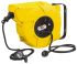 16m Extension Reel Type F - German Schuko,1 Socket With Auto Rewind,Unwound Current Rating 16A,230 V IP44,Yellow