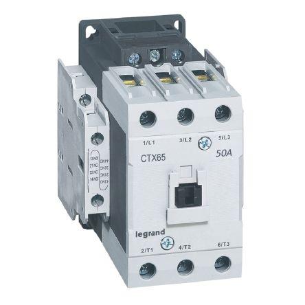 CTX CONTACTEUR 3P 50A  2NO2NC 48V DC BORNES A CAGE T4