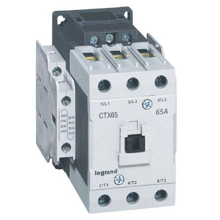 CTX CONTACTEUR 3P 65A  2NO2NC 110V AC BORNES A CAGE T4