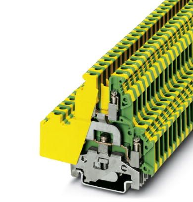 Ground modular terminal block, Cross section:  2 mm- mm AWG:42, Connection  type: