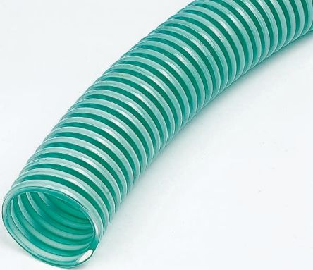 RS PRO PVC 5m Long Green Flexible Ducting Reinforced, 220mm Bend Radius ,  Applications Beverage, Food