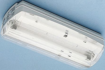 bln fluorescent emergency light fitting bulkhead 8 w rs components