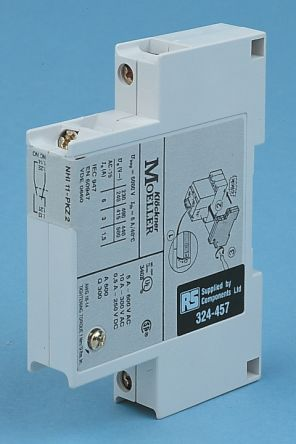 Eaton, 2NO/2NC (4), Auxiliary Contact, Side Mount, 6 A